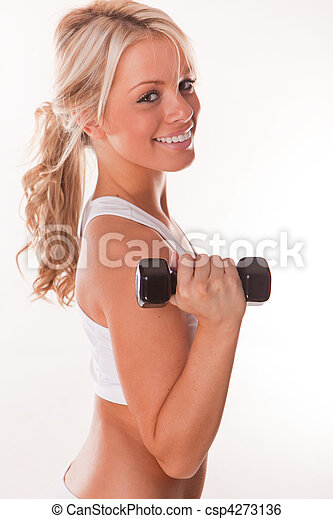 Smiling fitness beauty  - csp4273136