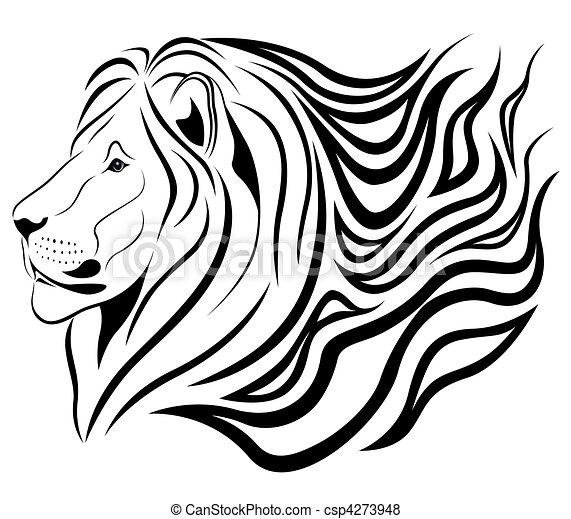 Burning lion - csp4273948