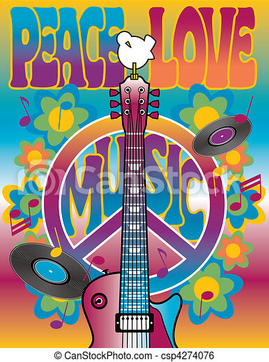 Peace-Love-Music - csp4274076