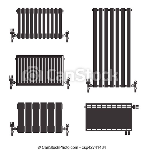 vektor von heizk rper zentralheizung icons central heating csp42741484 suchen sie. Black Bedroom Furniture Sets. Home Design Ideas