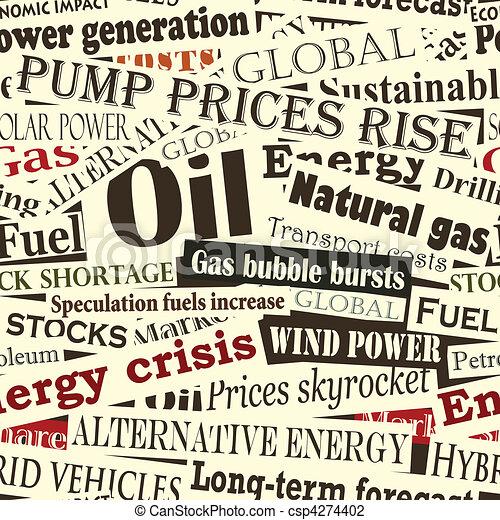 Energy headlines - csp4274402