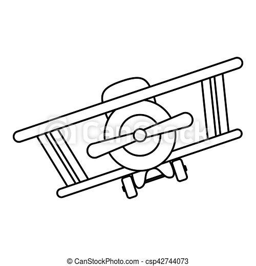 Isolated toy airplane design - csp42744073