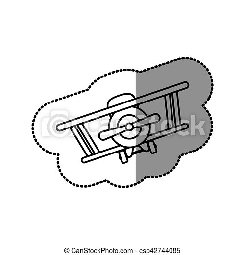 Isolated toy airplane design - csp42744085