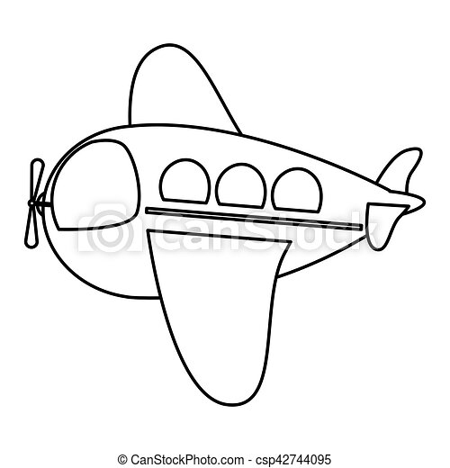 Isolated toy airplane design - csp42744095