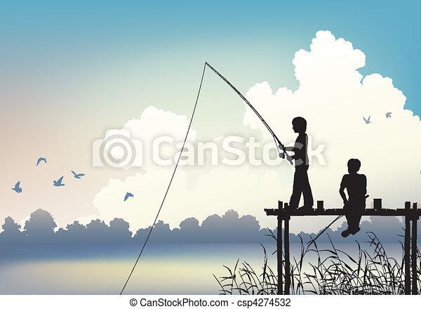 Fishing scene - csp4274532