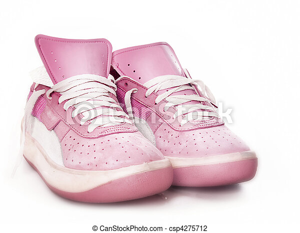 pink used casual running shoes - csp4275712