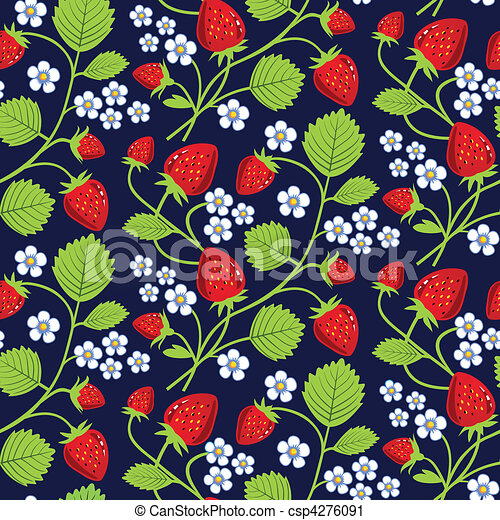 Strawberries background - csp4276091