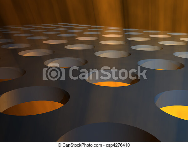 Industrial Lights Stage Floor - csp4276410