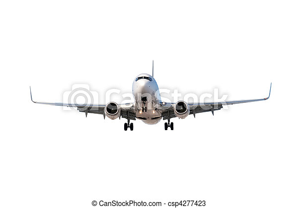 Airplane isolated on white - csp4277423