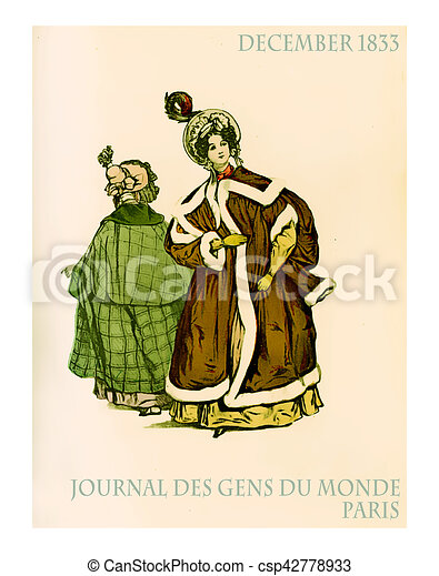 December 1833, outdoors French fashion - csp42778933