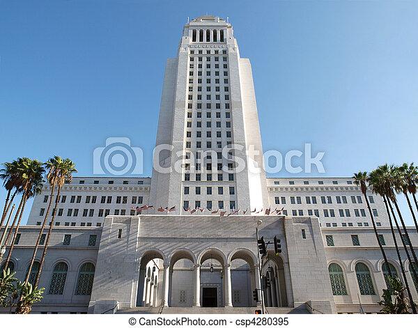 Los Angeles City Hall - csp4280395