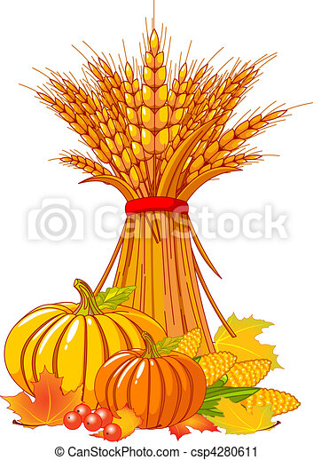 Thanksgiving / harvest background - csp4280611