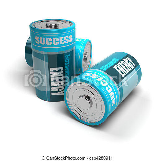 battery concept, energy reaching success, positive energies - csp4280911