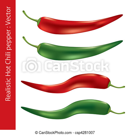 Realistic hot chili pepper - csp4281007