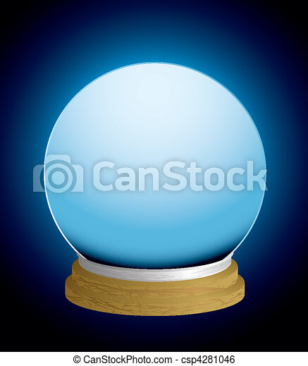 fortune teller crystal ball - csp4281046