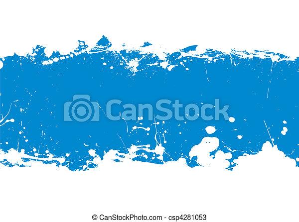 blue ink splat banner - csp4281053