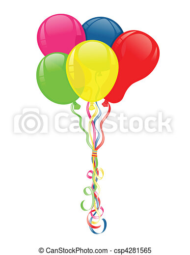 Colorful balloons for parties celebrations - csp4281565