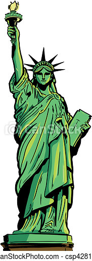 Statue of Liberty full figure - csp4281577