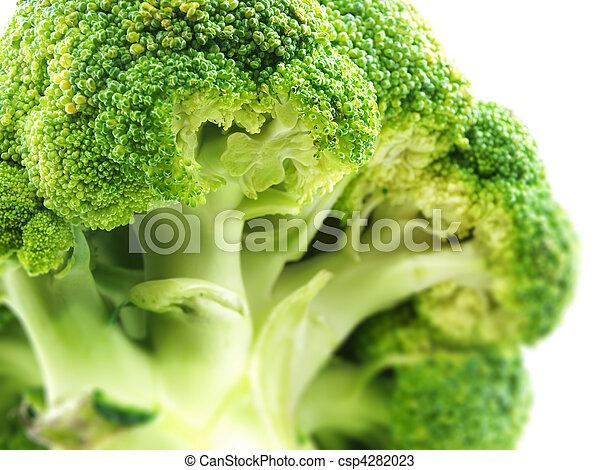 broccoli om white background - csp4282023