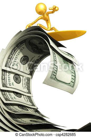 Surfing A Money Wave - csp4282685