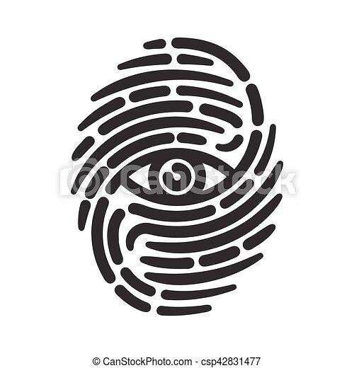 Fingerprint with eye - csp42831477