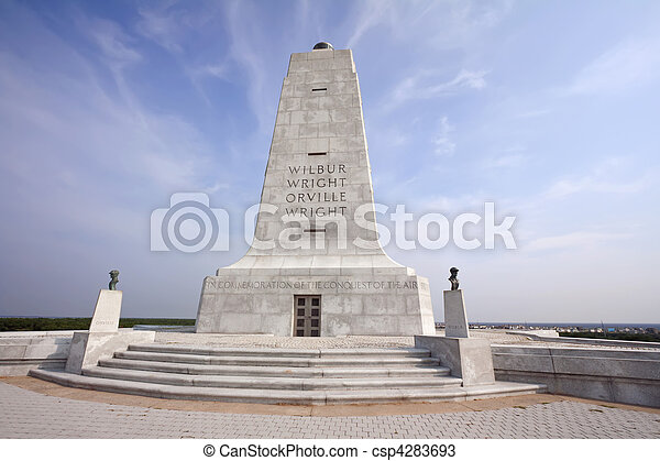 Wright Brothers monument at Kitty Hawk, North Carolina - csp4283693