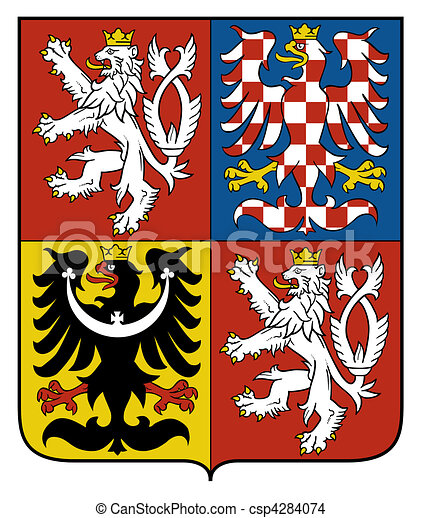 Czech Republic Coat Arms - csp4284074