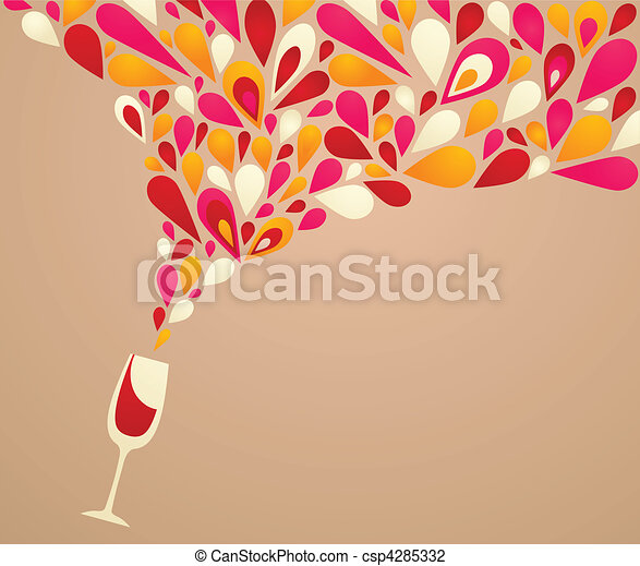 Funky wine background - csp4285332