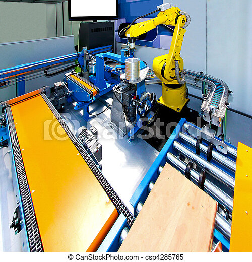 Robotic production line - csp4285765