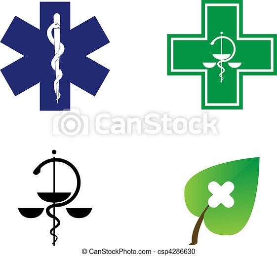 medical symbols illustration - csp4286630
