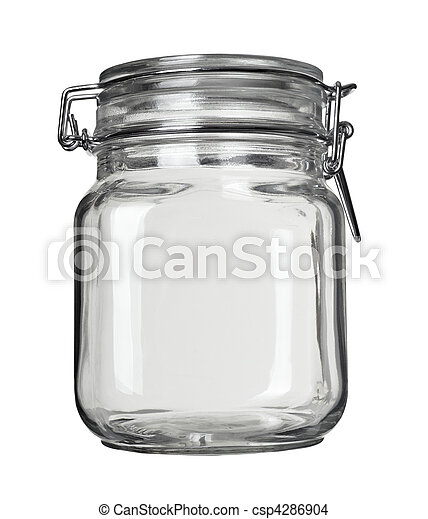 glass jar kitchen dish - csp4286904