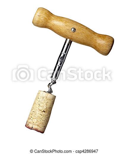bottle opener wine cork tool drink beverage equipment - csp4286947