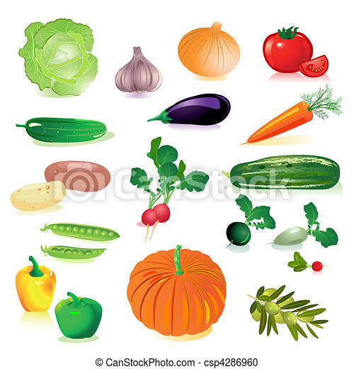 set of raw vegetables - csp4286960