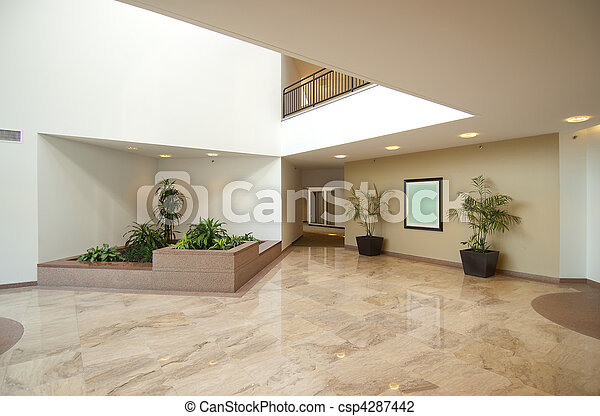 Entrance hall of business office - csp4287442