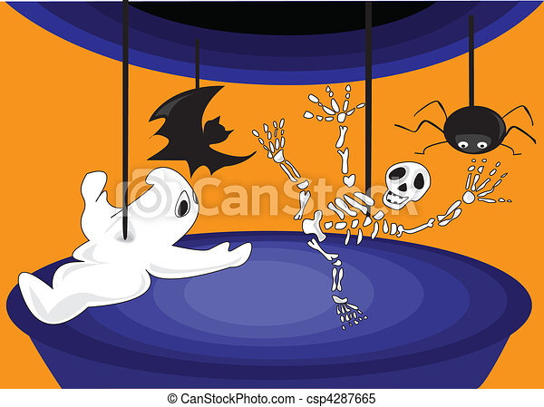Halloween, a carousel of horror - csp4287665