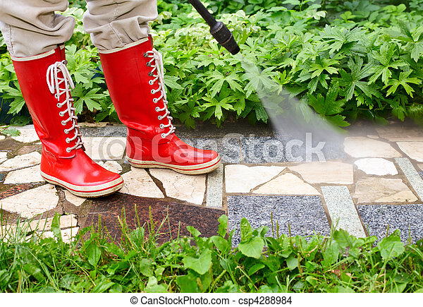 High pressure washing - csp4288984