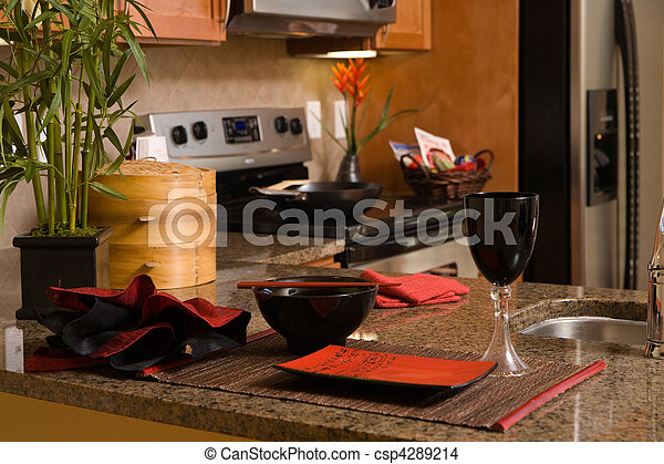 stock foto von klein modern kueche mit asiatisch. Black Bedroom Furniture Sets. Home Design Ideas