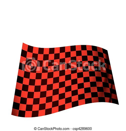 Vector Clipart of red checkered flag - racing inspired red ...
