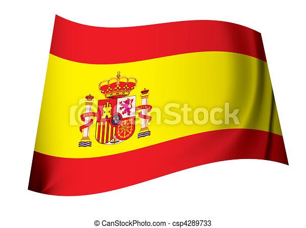 spanish coat of arms flag - csp4289733