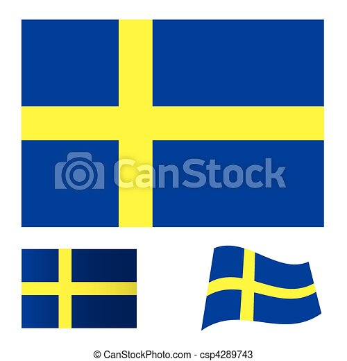 Sweden flag set - csp4289743