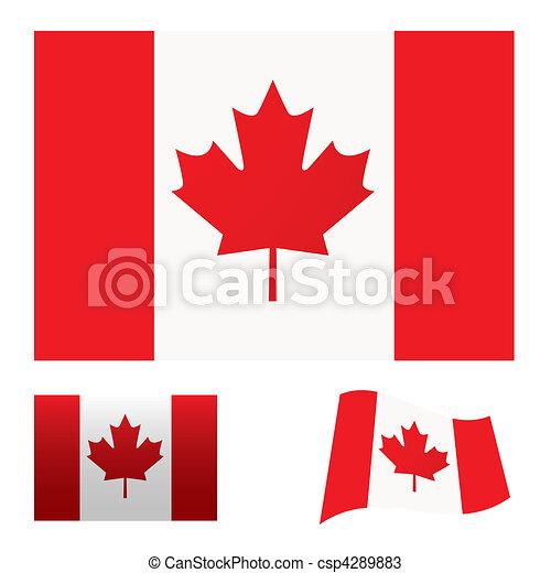Canada flag set - csp4289883