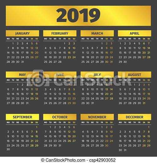Calendario 2019 Portugal