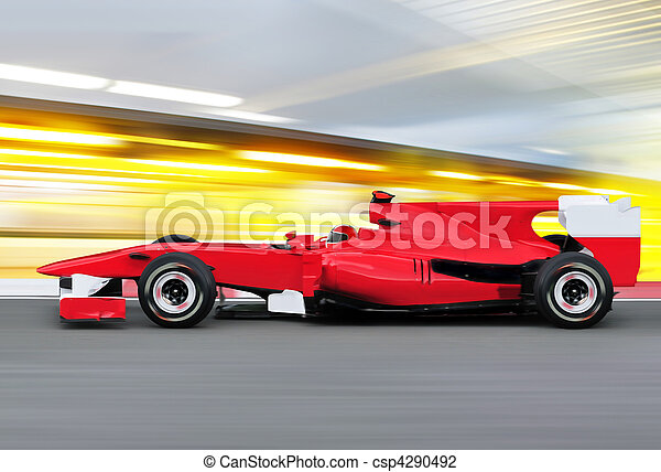 formula one race car on speed track - csp4290492