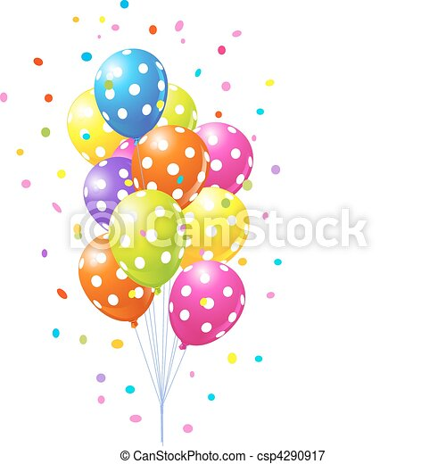 Bunch of  colorful balloons - csp4290917