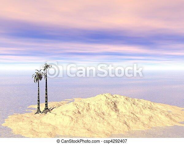 CGI - Palm island - csp4292407