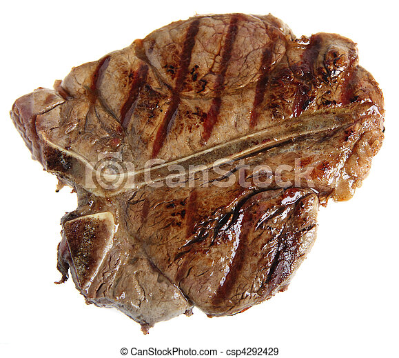 Grilled T-bone from above - csp4292429
