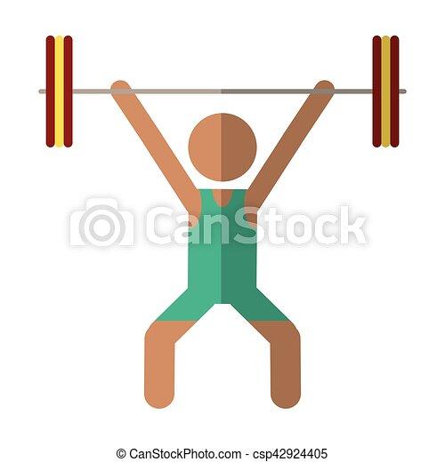 man weight lifter sport athlete - csp42924405
