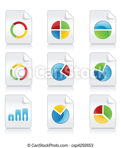 Icons of various schedules and diagrammes. A vector illustration - csp4292653