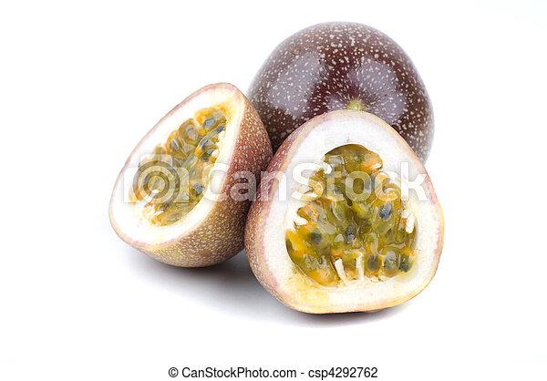 halved passion fruit  - csp4292762
