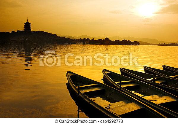 west lake in china - csp4292773